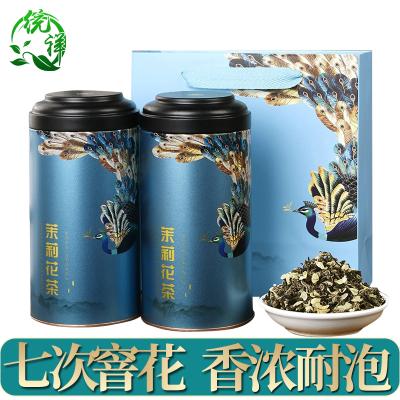 2021新茶 茉莉花茶一级飘雪浓香型茉莉花茶叶礼盒罐装500g