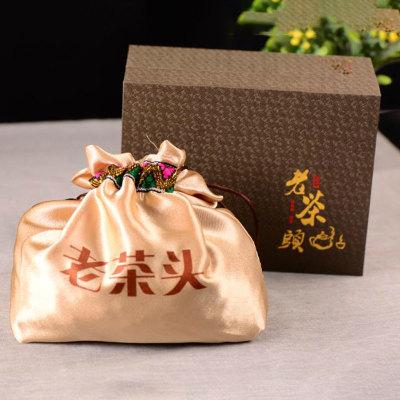 10年云南普洱熟茶老茶头糯米香沱茶礼盒装散装一斤一盒装配布袋