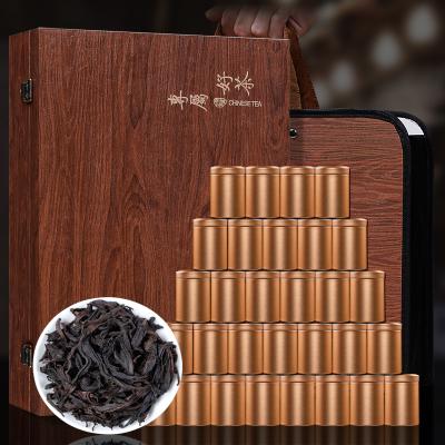 武夷乌龙茶岩韵大红袍浓香型肉桂茶叶木质礼盒装大红袍茶300克