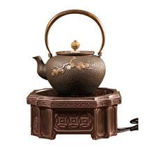 台湾老岩泥手工电陶炉 方阁子无辐射铁壶专用茶炉 远红外线煮茶炉