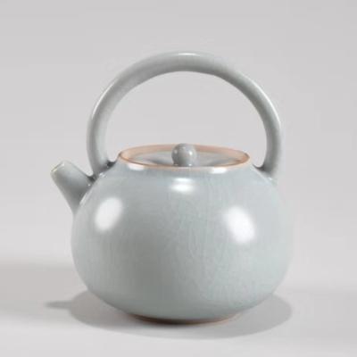 茶壶汝窑泡茶壶陶瓷茶壶古风泡茶壶