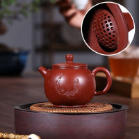 名家全手工王婷原矿大红袍鲍尊紫砂壶 茶壶200毫升