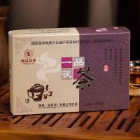 湖南安化黑茶益阳茶厂湘益一品茯茶金花茯砖茶 2011年一级茶叶400克
