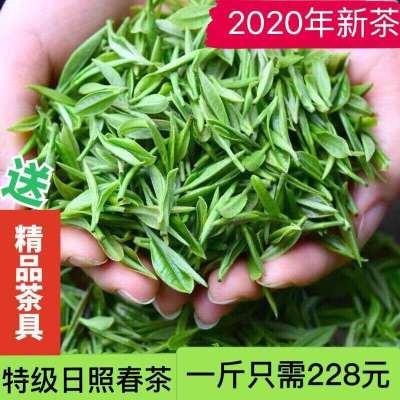 日照绿茶2020新茶特级炒青茶板栗香春茶露天茶叶绿茶高山云雾散装