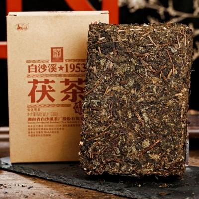 湖南安化黑茶 白沙溪1953特制茯茶338g 金花黑茶茶叶2018年