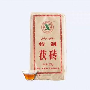 黑茶湖南安化湘益茯茶特制小砖益阳茶厂出品金花茯砖300克