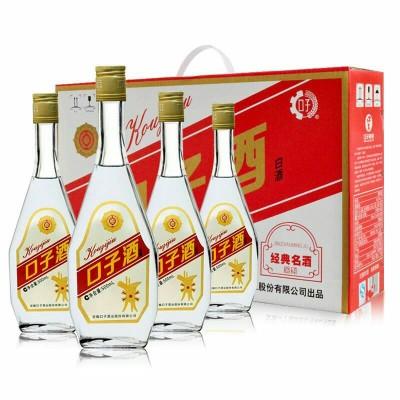 【整箱4瓶价】口子酒40.8度兼香白酒500ml/瓶经典口子酒破损包赔