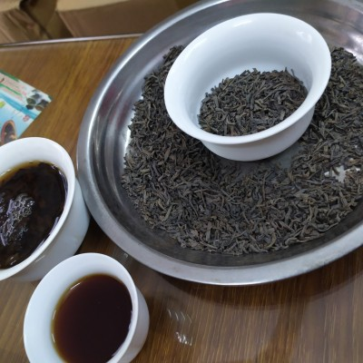 老炒茶93年坪上醇香炒茶揭西炒茶古老珍品老茶1斤1袋高山炒茶陈年老炒茶