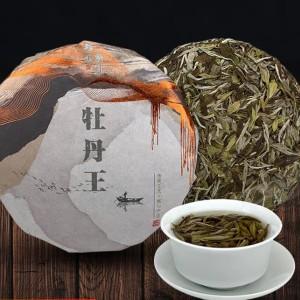福鼎白茶叶大毫白毫香荒野牡丹王茶饼2019荒山白茶紧压新茶300克