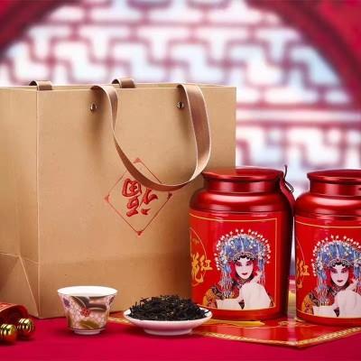 桂花红茶2020新茶正山小种武夷功夫红茶浓香型20小罐装茶叶送礼盒