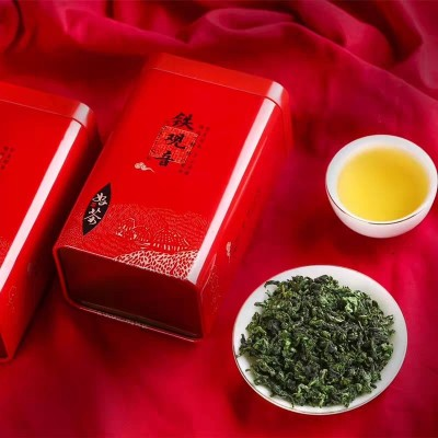 安溪铁观音浓香型2020年新春茶叶高山茶乌龙茶兰花香80g罐装盒装