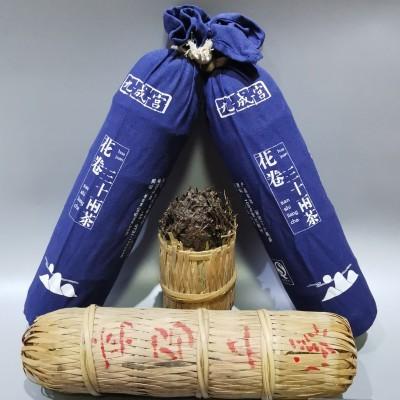 湖南安化黑茶花卷三十两茶高马二溪原料