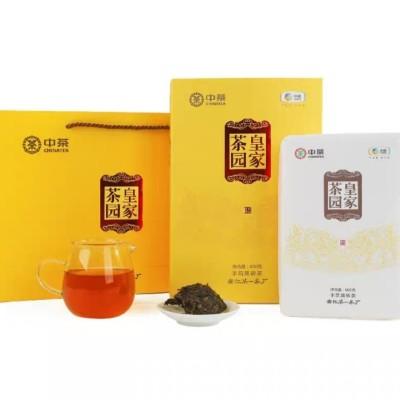 2019年中茶安化黑茶皇家茶园手筑黑砖600g
