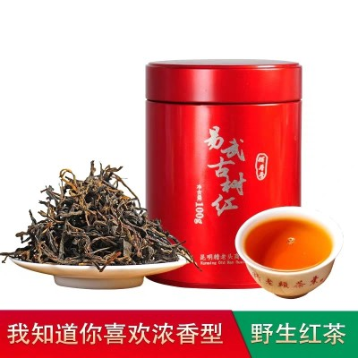 糟老头100g罐装滇红茶易武散装浓香型晒红野生 古树红茶叶