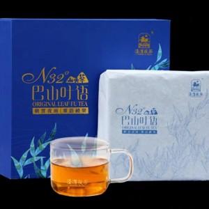 黑茶陕西特产泾渭茯茶咸阳茯砖茶金花伏茶  660g巴山叶语
