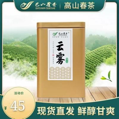 巴山雀舌云雾绿茶高山绿茶叶浓香型罐装绿茶茶叶