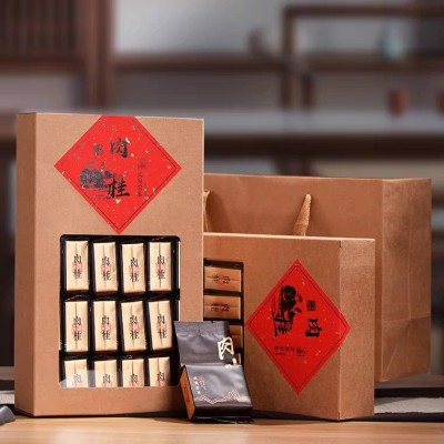 新茶正岩花香肉桂500g大红袍礼盒装浓香型乌龙茶武夷岩茶罐装袋装