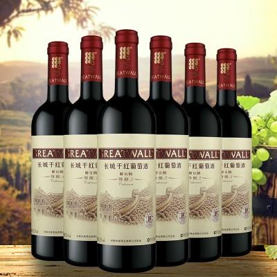 中粮红酒长城特酿3年解百纳干红葡萄酒整箱 750ml 6瓶