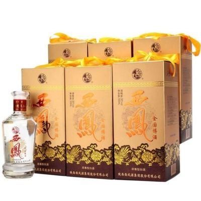 浓香型白酒纯粮食西风金国樽酒50度500毫升6瓶装破损包赔