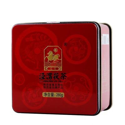 泾渭茯茶黑茶泾阳茯砖陕西特产茶叶散装西安金花伏茶贡福儒品280g