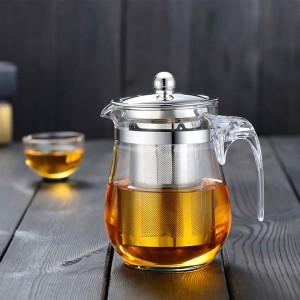 茶壶玻璃防爆花茶壶不锈钢茶杯泡茶壶过滤单壶茶具玻璃壶套装家用