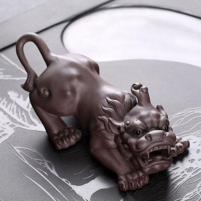 紫砂茶宠摆件精品办公可养宠物貔貅手工茶玩虫茶道茶具配件