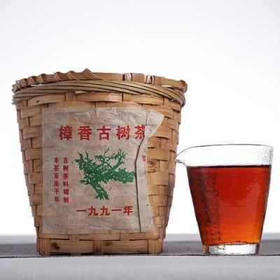 【91樟香】古树茶300g竹筐装【原料日期】2008年景迈古树
