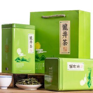 口碑茶 新茶明前龙井茶茶叶绿茶 茶叶礼盒春茶散装罐装共发500g