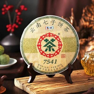 中粮中茶7541唛号茶2019年云南七子茶饼生茶357g/饼