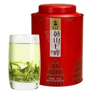谢裕大黄山毛峰新茶古法揉捻绿茶一级大份量红罐200g