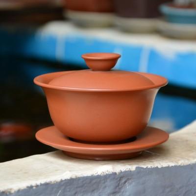 云南建水紫陶 纯手工 茶具零配 纯手工盖碗 复烧工艺 包邮