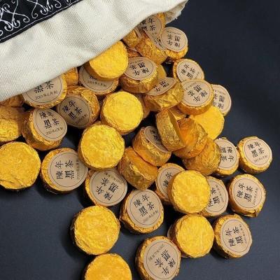 2001年糯米香黑茶湖南安化黑茶陈年老熟茶小沱茶500g包邮