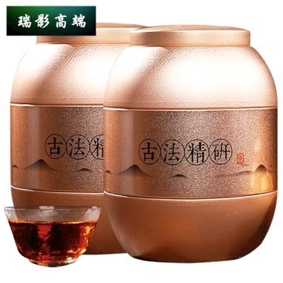 【高端茶】碎银子茶云南 糯米香 熟茶1000g化石老茶头5-10年罐装