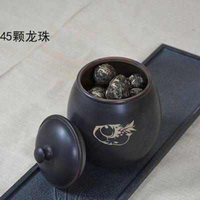 云南建水紫陶 名家大师纯手工茶具茶叶罐 买罐子送普洱茶龙珠300克