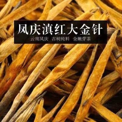 滇红特级红茶云南凤庆高山野生红茶单芽大金针早春金芽滇红茶叶