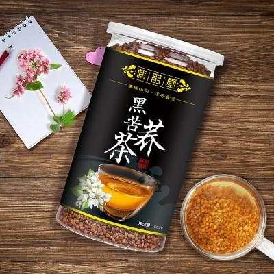 谯韵堂 黑苦荞茶500g 罐装 全株苦荞 大凉山 荞麦茶 饭店酒店茶