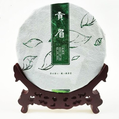 福鼎寿眉白茶2020贡眉饼150克批发 手撕格子茶饼