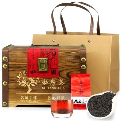 正山小种红茶 木质礼盒装 武夷山桐木关浓香型茶叶