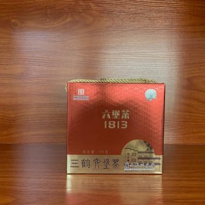 广西梧州茶厂三鹤1813六堡茶  1000克盒茶叶