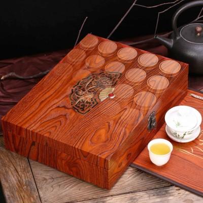 中秋礼品茶叶2020新茶武夷红茶正山小种浓香型木质茶叶礼盒装30罐