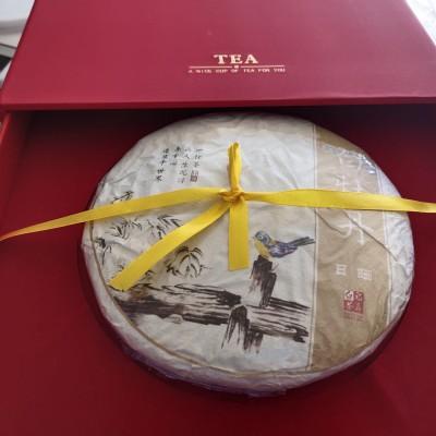 【送茶刀茶巾】2018福鼎的白茶头春绿牡丹350g白牡丹双层礼盒