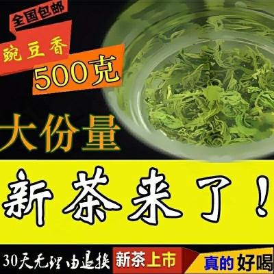 新茶上市2020年 春茶青岛海青绿茶赛崂山明前碧螺春胶南茶叶500g