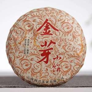 1提10片   金芽宫廷普洱(熟茶)精选2009年原料压饼