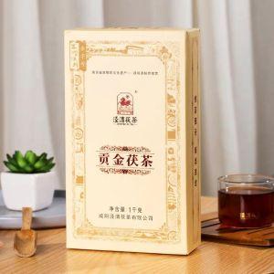 泾渭茯茶2014贡金茯茶泾阳陕西特产泾阳茯茶砖茶黑茶叶金花茯茶