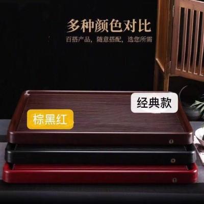 电木茶盘家用简约茶盘台湾排水式茶具套装尺寸81*48*5默认红色