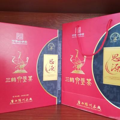 广西梧州茶厂三鹤六堡茶思源礼盒500克  2013年陈化茶叶