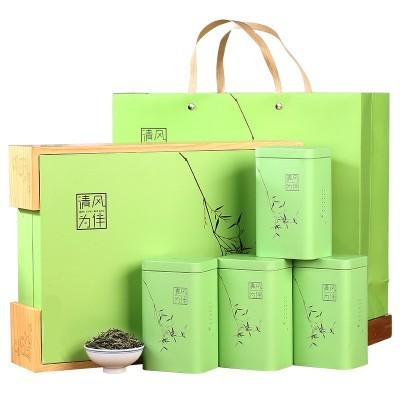 礼品茶毛尖高档礼盒装雨前绿茶明前2020新茶高山春茶浓香
