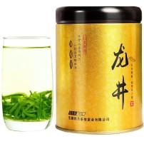 绿茶 龙井茶嫩芽采摘春茶浓香型罐装50g