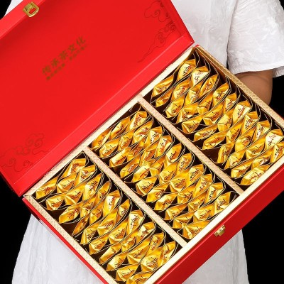 中秋节送礼新茶武夷山正山小种金骏眉红茶铁观音大红袍礼盒装500g