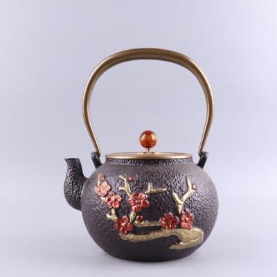 古生铁壶尺寸D15.5×H21容量1200ml 铸铁日本砂铁铸